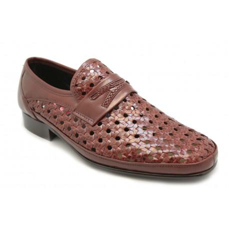 Zapato mocasín trenzado