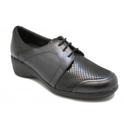 Zapato con cordones para plantillas