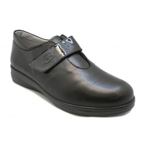 Zapato mercedes cómodo para acoplar plantilla ortopédica