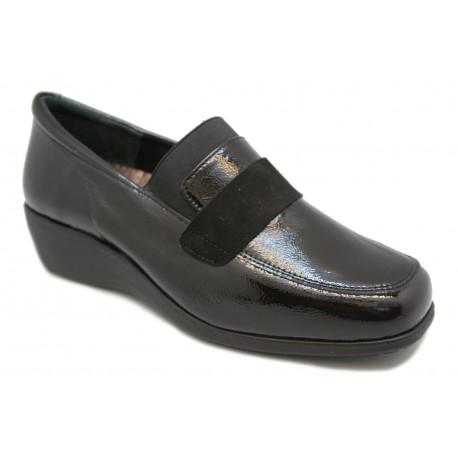 Zapato mocasín cómodo para plantillas